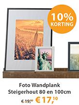 Foto Wandplank Steigerhout 80 en 100cm