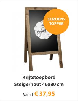 Krijtstoepbord Steigerhout 46x80cm