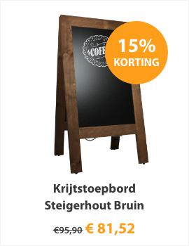 Krijtstoepbord Steigerhout Bruin 75x135cm
