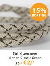 Strijkijzersnoer Linnen Classic Green