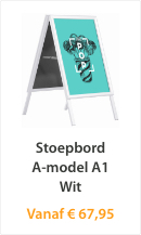 Stoepbord A-model A1 Wit