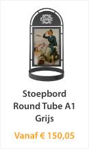 Stoepbord Round Tube A1 Grijs