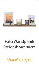 Foto Wandplank Steigerhout 80cm