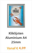 Kliklijsten Aluminium A4 25mm